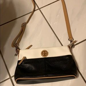 Giani Bernini cream and black handbag